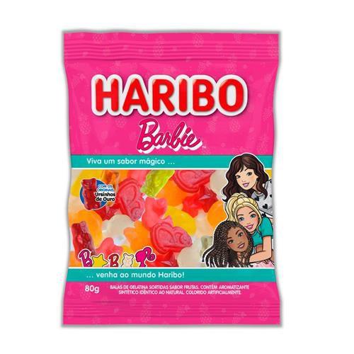 Bala Gelatina Barbie Frutas Sortidas 80g - Haribo