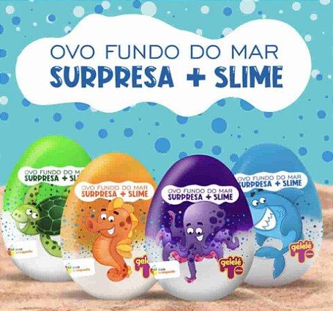 Ovo Surpresa com Slime Fundo do Mar - Doce Brinquedo