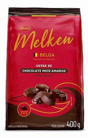Chocolate Belga em Gotas Melken Meio Amargo 52% Cacau - Harald