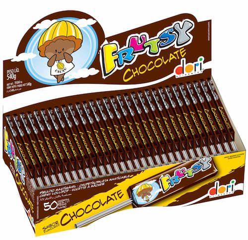Pirulito Mastigável Frutsy Chocolate com 50 Unidades - Dori