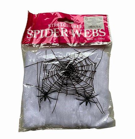 Teia com Aranha - Halloween- Flex