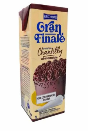 Creme Chantilly Gran Finale Sabor Chocolate - 1 L - Fleischmann