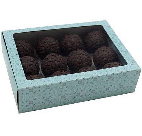 Caixa Turquesa Doce Gourmet com 10 unidades para 12 Doces - Ideia