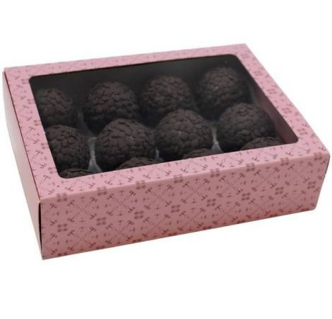 Caixa Rosa Doce Gourmet para 12 doces com 10 unidades  -  Ideia