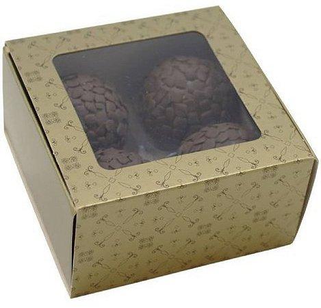Caixa Ouro Doce Gourmet 4 Doces - Ideia