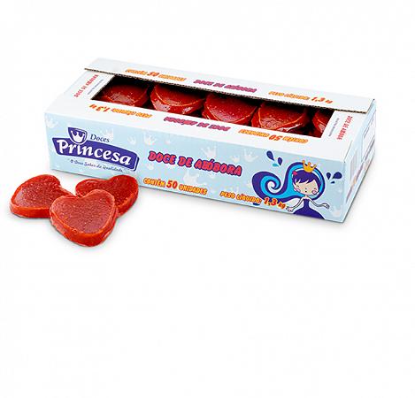 Doce De Abóbora Coração Embalada C/50  - Princesa