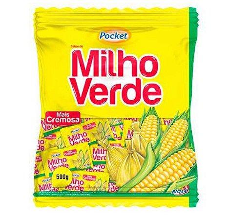 Bala Dura Pocket Cremosa Milho Verde 500G - Riclan