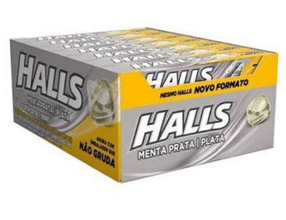 Bala Drops Halls Menta Prata Caixa C/ 21 Un. - Adams
