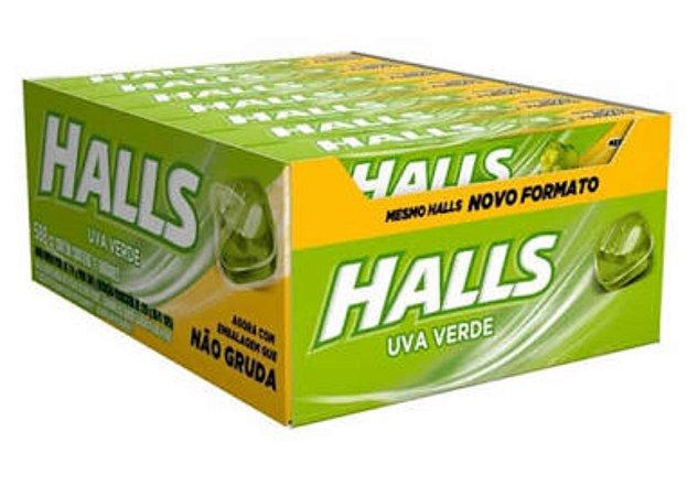 Bala Halls Uva Verde Caixa C/ 21 Un. - Adams