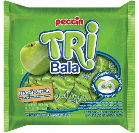 Bala Tribala Recheada Maçã Verde 500g - Peccin