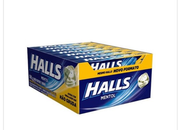 Bala Drops Halls Mentol Caixa C/ 21 Un. - Adams