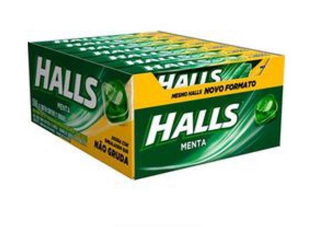 Bala Drops Halls Menta Caixa C/ 21 Un. - Adams