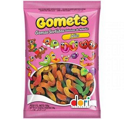 Bala De Goma Gomets Jellies Minhoca De Frutas 700g - Dori