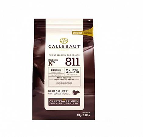 Chocolate Amargo 811 teor 54,5% Cacau Gotas 1Kg - Callebaut
