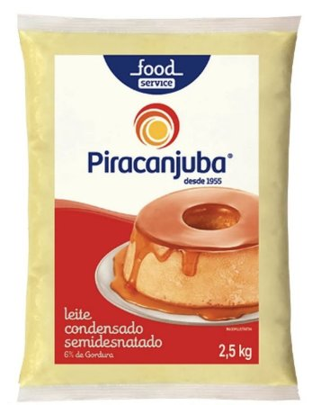 Leite Condensado Semidesnatado Piracanjuba 2,5 Kg