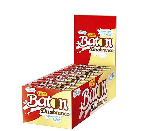 Chocolate Baton Duo Branco 30 unidades de 16g cada - Garoto
