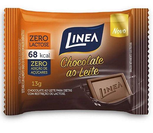 Chocolate Ao Leite Diet Linea Contendo 15 Unidades De 13g Cada
