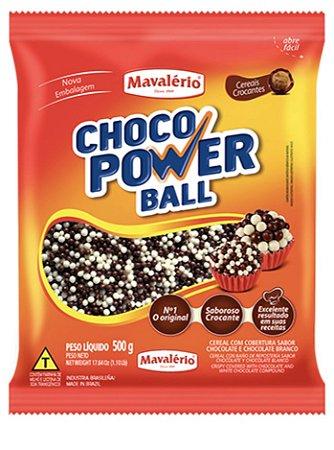 Choco power ball micro sabor chocolate e chocolate branco 500g - Mavalerio