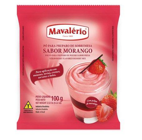 Pó para Sobremesa Sabor Morango 100g - Mavalério