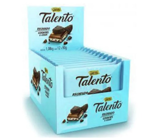 Chocolate Talento Recheado Cookies Cream 90G C/12 - Garoto