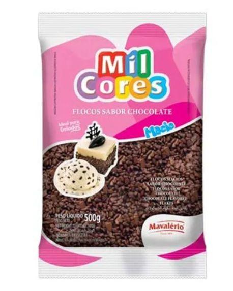Flocos de Chocolate Macios Mil Cores 500g - Mavalério