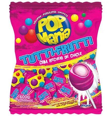 Pirulito Pop Mania Tutti Frutti Recheio Chiclete c/50 - Riclan