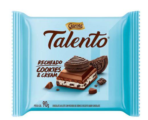 Chocolate Garoto Talento Cookies & Cream 90g