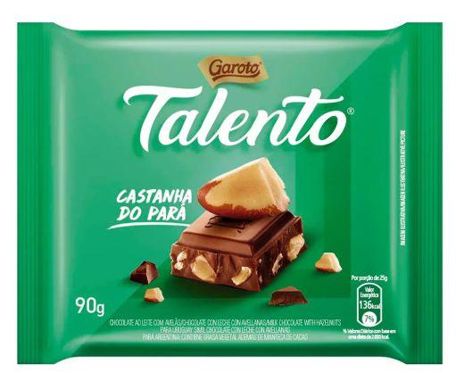 Chocolate Garoto Talento Castanha do Pará com 90g