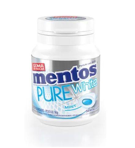 Mentos Pure White Menta 56g PERFETI