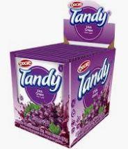 Refresco em pó 15 unidades de 25g  Tandy sabor Uva