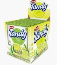 Refresco em pó 15 unidades de 25g Tandy sabor Limão Docile