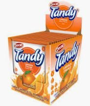 Refresco em pó 15 unidades de 25g Tandy Sabor Laranja