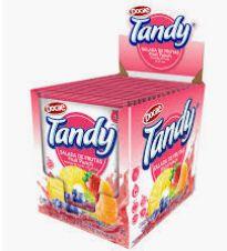 Refresco em pó 15 unidades Tandy sabor Salada Frutas