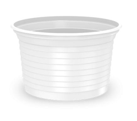Pote Descartável 100 ml Transparente - Caixa com 2500 unidades Minaplast