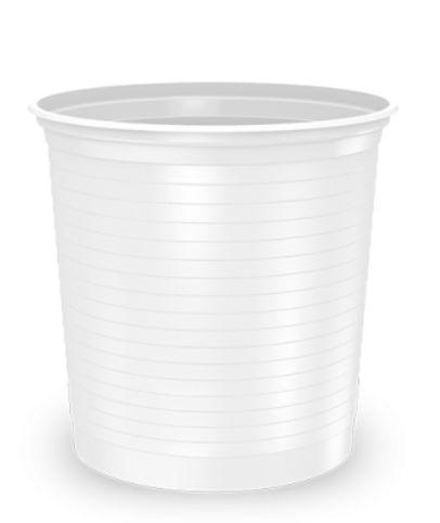 Pote descartável 500ml caixa com 1000 unidades transparente - Minaplast