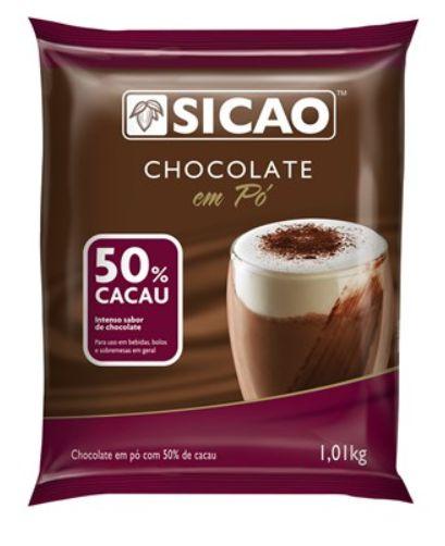 Chocolate Em Pó Sicao 50% Cacau 1Kg Sicao
