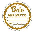 Etiquetas Adesivo Decorativo Bolo no Pote c/ 100 Un - Eticol