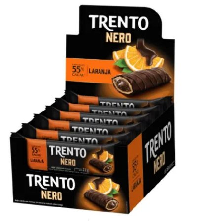Chocolate Trento Nero Laranja c/16 - Peccin