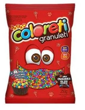 Confeito Chocolate Coloreti Granuleti 250g - Jazam