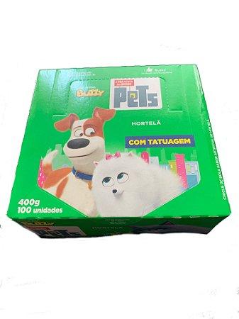 Chiclete Buzzy Pets Hortelã c/100 - Riclan