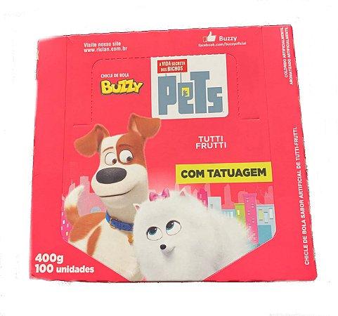 Chiclete Buzzy Pets  Tutti Frutti c/100 - Riclan