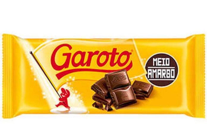Tablete Garoto Meio Amargo 90g - Garoto