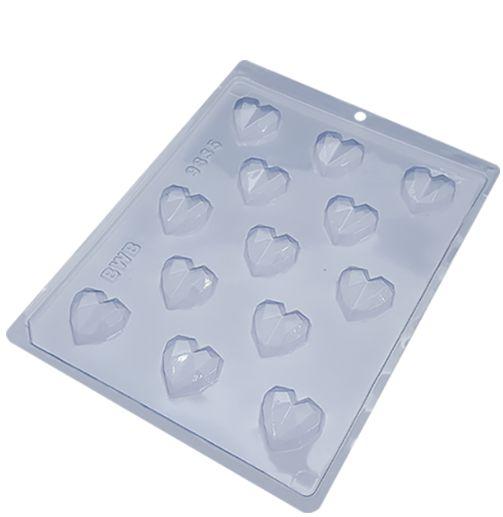 Forma acetato Bombom Coração Lapidado (Ref 9835) - BWB