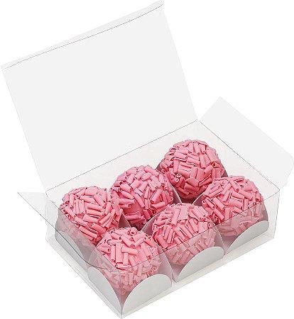 Caixa Cristal (6 doces) Transparente c/10 un - Ideia
