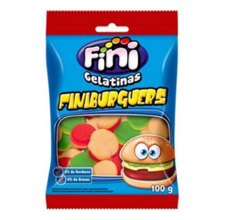 Bala gelatinas  Finiburguers  100g - Fini