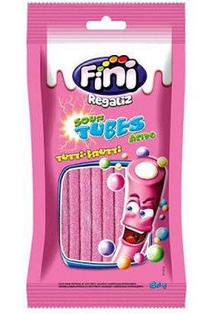 Bala gelatina ácido tubes tutti frutti 80g - Fini