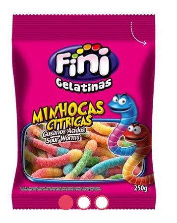 Balas gelatina Minhocas cítricas 250 g - Fini