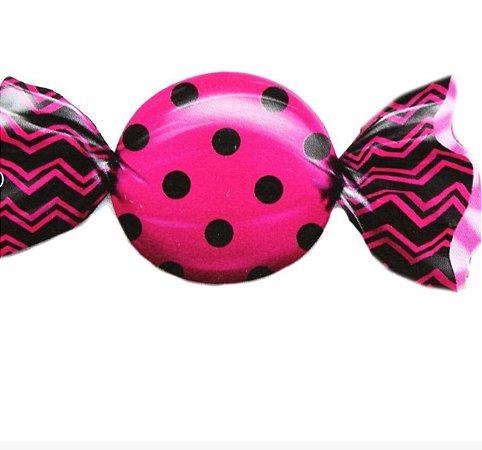 Embalagem para trufào Max Poá Preto com Pink 20x18cm - Carber