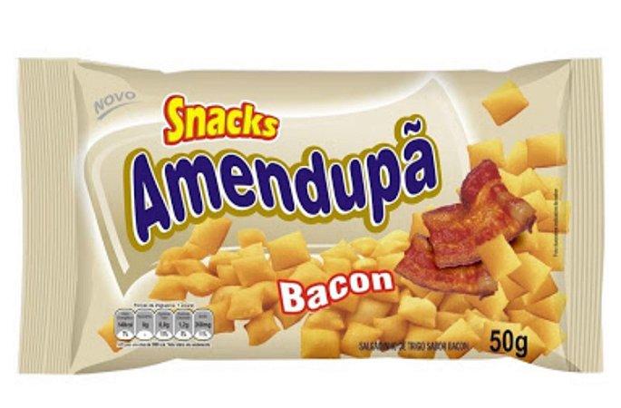 Salgadinho Amendupã sabor Bacon 20x50g - Amendupã