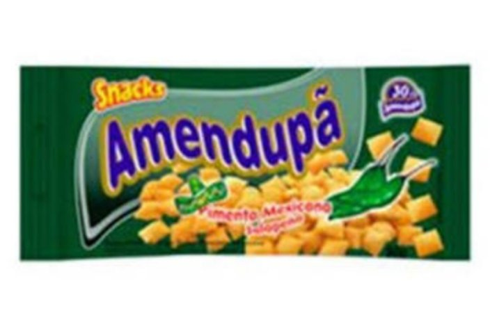 Salgadinho Amendupã sabor Pimenta Mexicana  cx c/20x50g- Amendupã